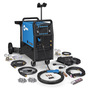 Miller® Multimatic® 255 MIG Welder, 208 - 575 Volt 230 Amps At 25.5 Volt 60%,  200 Amps At 28 Volt 60%, 230 VAC  At 25.5 V 60% Duty Cycle, 275 VAC At 21 V- 60% Duty Cycle 350 Single Phase 180 lb With EZ-Latch™ Dual Cylinder Running Gear & TIG Kit