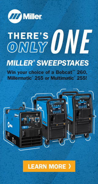 Miller Sweepstakes: Win your choice of Bobcat 260, Millermatic 255 or Multimatic 255