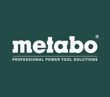 The Metabo logo displayed on a green background