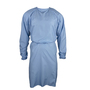 National Safety Apparel® Small - Medium Blue 3 Ounce Launderable Polyester AAMI Level 2 Non-Surgical Isolation Gown With Tie In Back Closure And Fluid Resistant Finish (3 Per Bag)
