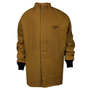 National Safety Apparel® 2X Caramel DuPont™ Nomex® Kevlar® 100 cal/cm² Flame Resistant Coat With Hook And Loop Closure