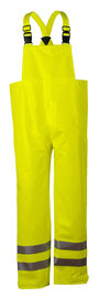 National Safety Apparel® Small Fluorescent Yellow Arc H2O™ 10 oz FR Polyurethane/FR Cotton Knit 19 cal/cm² FR Rainwear Bib Overall (Class E)