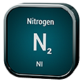 Stylized icon for Nitrogen