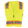 OccuNomix Medium Hi-Viz Yellow 100% ANSI Polyester/Mesh Two-Tone Vest