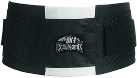 OccuNomix Medium Black OK-1 EVA Foam Rubber/Polyester Back Support