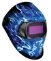 3M™ Speedglas™ 100V Blue, Black And White Welding Helmet With Variable Shades 8 - 12 Auto Darkening Lens And Ice Hot Graphics