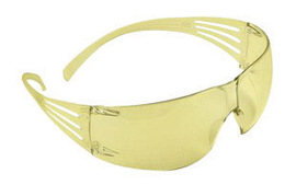 3M™ SecureFit™ Self-Adjusting Safety Glasses With Pressure Diffusion Amber Polycarbonate Frame And Amber Polycarbonate Anti-Fog Lens