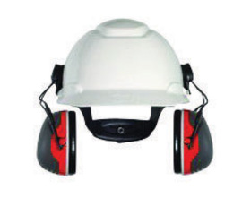 3M™ Peltor™ Black And Red Cap Mount Earmuffs