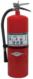 Amerex® 17 Pound Halon 1211 4A:80B:C Fire Extinguisher For Class A, B And C Fires With Chrome Plated Brass Valve, Wall Bracket And Hose