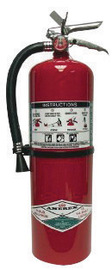 Amerex® 15.5 Pound Halotron® I 2A:10B:C Fire Extinguisher For Class A, B And C Fires With Chrome Plated Brass Valve, Wall Bracket, Hose And Nozzle