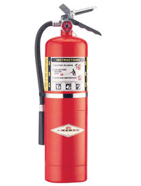 Amerex® 10 Pound Stored Pressure ABC Dry Chemical 4A:80B:C Steel Multi-Purpose Fire Extinguisher For Class A, B And C Fires With Anodized Aluminum Valve, Wall Bracket, Hose And Nozzle