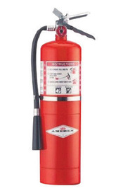 Amerex® 10 Pound Stored Pressure Regular Dry Chemical 60-B:C Fire Extinguisher For Class B And C Fires With Chrome Plated Brass Valve, Wall Bracket, Hose And Nozzle