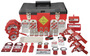 Accuform Signs® Deluxe Plus Lockout Kit Includes (1) Lockout Box, (2) Hasps, (6) Padlock, (9) Circuit Breaker Lockouts, (25) Circuit Breaker Lockout Tab Tags And (1) AC Voltage Sensor