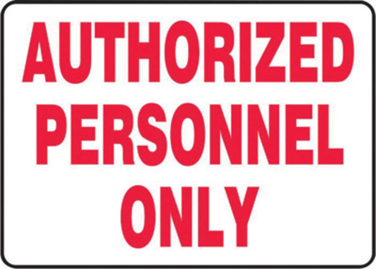 It is an image of Trust Authorized Personnel Only Sign Printable