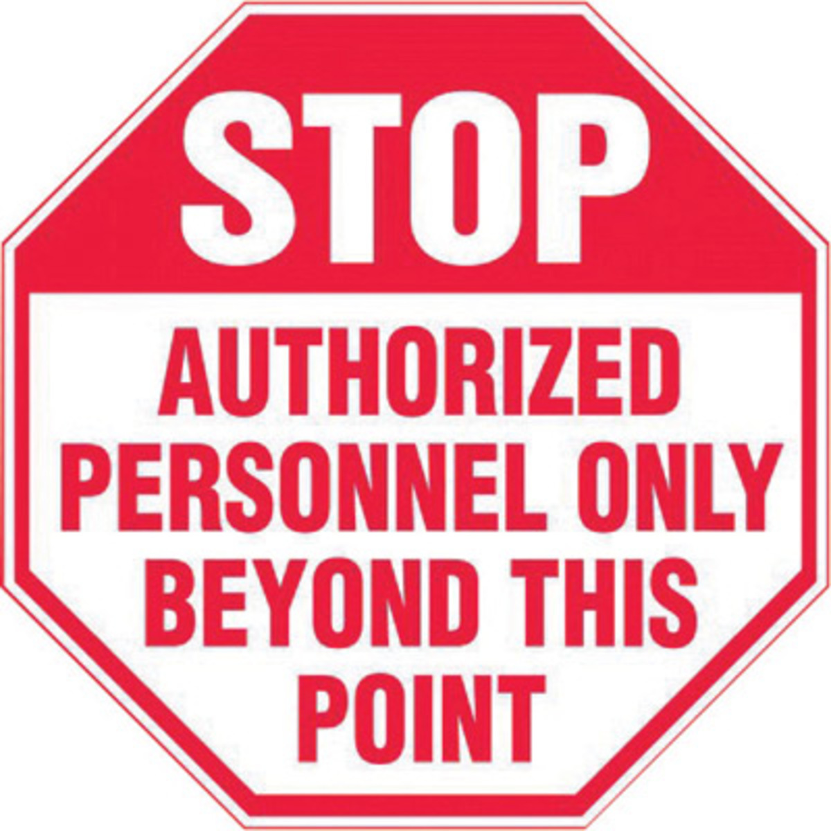 It's just a picture of Obsessed Authorized Personnel Only Sign Printable