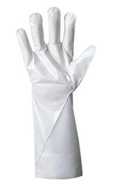 Ansell Size 7 White Barrier® Non-Woven Lined 2.5 mil Film Chemical Resistant Gloves