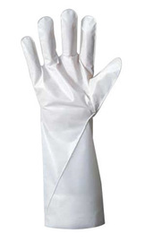 Ansell Size 6 White Barrier® Non-Woven Lined 2.5 mil Five Layer Laminated Film Chemical Resistant Gloves
