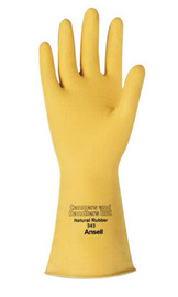 Ansell Size 8 Natural Canners And Handlers™ Unlined Lined 20 mil Rubber And Latex Chemical Resistant Gloves