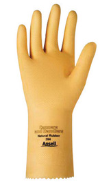 Ansell Size 8.5 Natural Canners And Handlers™ Unlined Lined 20 mil Rubber And Latex Chemical Resistant Gloves
