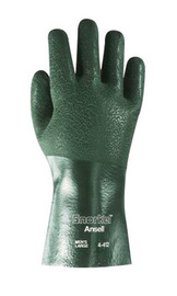 Ansell Size 10 Green Snorkel® Jersey/Knit Lined 11 mil PVC Chemical Resistant Gloves