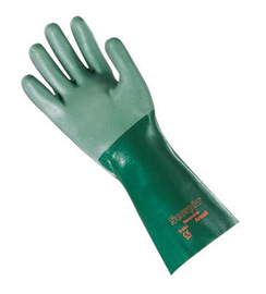 Ansell Size 9 Green Scorpio® Interlock Knit Lined 30 mil Neoprene Chemical Resistant Gloves