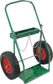 Anthony Welded Products Low Rail Design Medium Duty Dual Cylinder Cart With 16