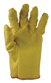 SHOWA™ Size 7 Yellow Bex™ Sof Paw 13 mil Vinyl Impregnated PVC Slip-On Stretch Fabric General Purpose Fully Coated Chemical Resistant Gloves With Smooth And Textured Finish And Open Cuff