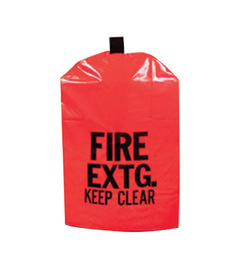 Brooks Red Reinforced Vinyl Small Fire Extinguisher Cover With Hook And Loop Closure For Use With Portable, Pressurized And Cartridge-Operated Fire Extinguishers