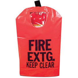 Brooks Red Reinforced Vinyl Small Fire Extinguisher Cover With Window, Hook And Loop Closure For Use With Portable, Pressurized And Cartridge-Operated Fire Extinguishers
