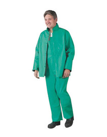 Dunlop® Protective Footwear 2X Green Sanitex .35 mm Nylon/Polyester/PVC Rain Jacket With Hood Snaps