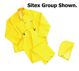 Dunlop® Protective Footwear Small Yellow Sitex .35 mm Polyester/PVC Rain Suit