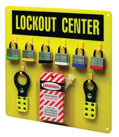 Brady® Yellow Acrylic Prinzing® Lockout Center