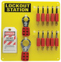 Brady® Black Acrylic Lockout Station