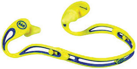 3M™ E-A-R Swerve™ Blue And Yellow Behind-The-Neck Banded Earplugs