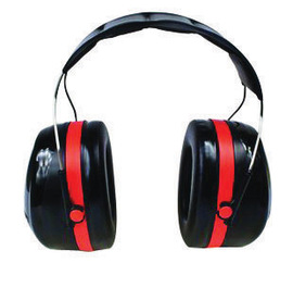 3M™ Optime™ 105 Black And Red Over-The-Head Earmuffs
