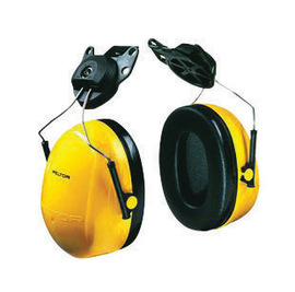3M™ Optime™ 98 Yellow And Black Helmet Mount Earmuffs
