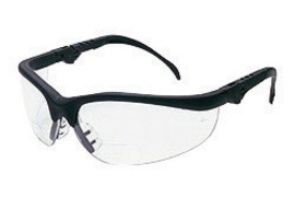 Crews® Klondike® Magnifier 2.0 Diopter Safety Glasses With Black Nylon Frame And Clear Polycarbonate Duramass® Anti-Scratch Lens