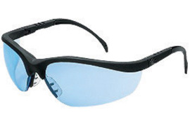 Crews® Klondike® Safety Glasses With Black Nylon Frame And Light Blue Polycarbonate Duramass® Anti-Scratch Lens