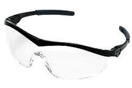 MCR Safety® Storm® Wrap-Around Black Safety Glasses With Clear Anti-Scratch Lens (Lead time for this product may be longer than normal.)