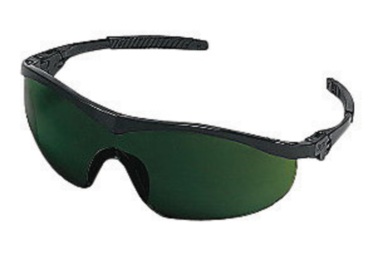 Airgas - CREST1150 - Crews® Storm® Safety Glasses With Black Nylon ...