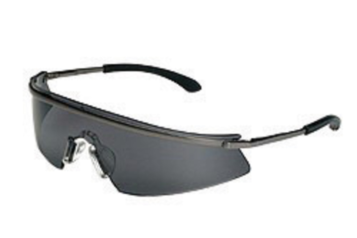 crews triwear safety glasses with metal frame gray polycarbonate duramass af4