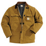 Carhartt® X-Large Regular Brown Nylon Quilt Lined 12 Ounce Cotton Duck Arctic Traditional Coat With Front Zipper, Hook And Loop Closure Triple-Stitched Seams (2) Chest Pockets, (2) Front Pockets And (2) Inside Pockets