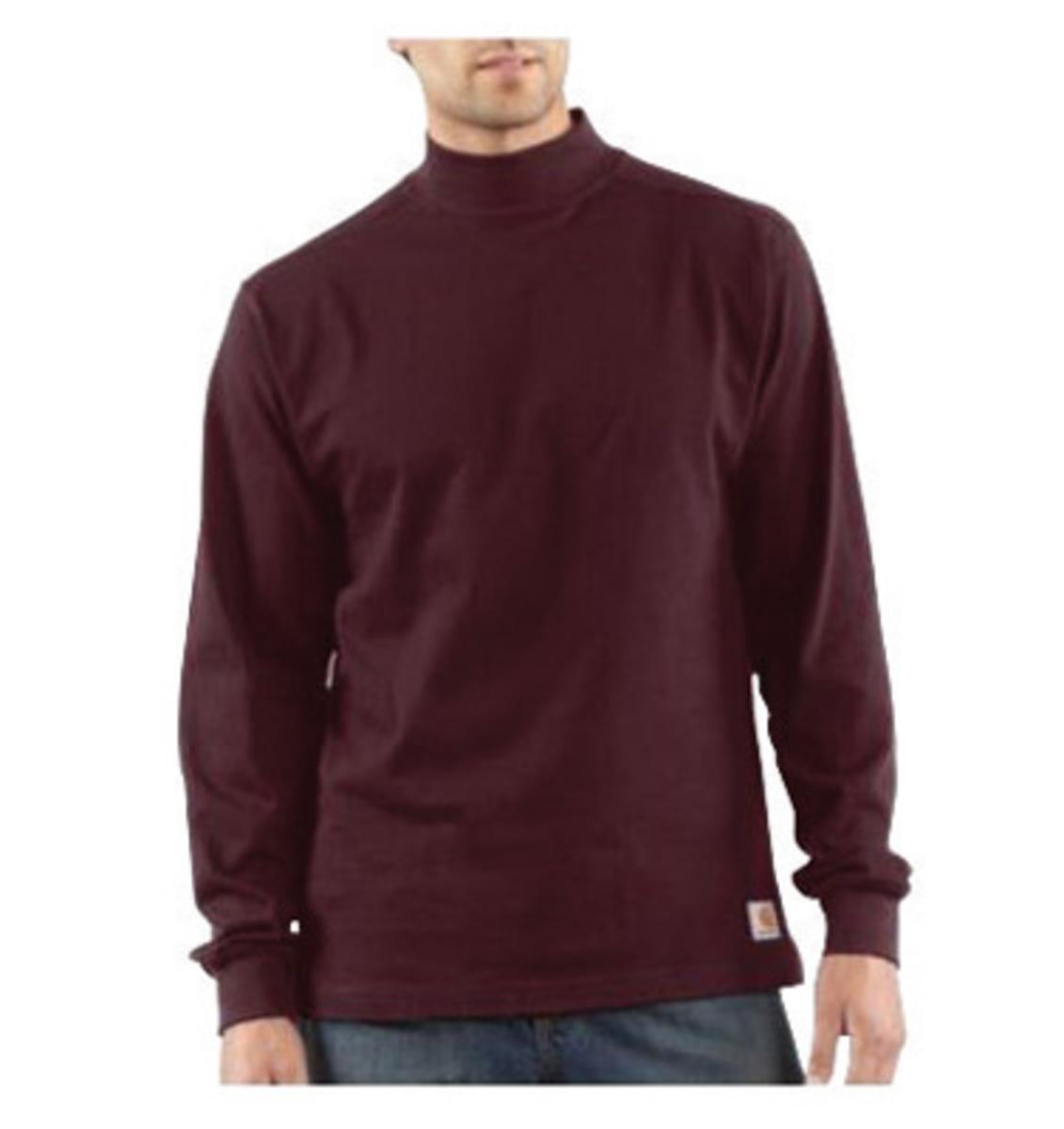 Airgas crhk203ptxltl carhartt x large tall port 7 8 for Big and tall mock turtleneck shirt
