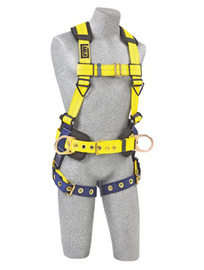 3M™ DBI-SALA® 2X Delta™ II No-Tangle™ Construction/Full Body/Vest Style Harness With Front And Back D-Ring, Belt With Sewn-In Back And Shoulder Pads And Tongue Leg Strap Buckle