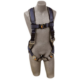 3M™ DBI-SALA® 2X ExoFit™ Full Body/Vest Style Harness With Back D-Ring, Quick Connect Chest And Leg Strap Buckle, Loops For Body Belt And Built-In Comfort Padding