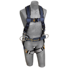 3M™ DBI-SALA® Large ExoFit™ Construction/Full Body/Vest Style Harness With Back And Side D-Ring, Belt With Sewn-In Pad, Quick Connect Chest And Leg Strap Buckle And Built-In Comfort Padding
