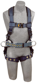 3M™ DBI-SALA® Small ExoFit™ Construction/Full Body/Vest Style Harness With Back And Side D-Ring, Belt With Pad, Quick Connect Chest Strap Buckle, Tongue Leg Strap Buckle And Built-In Comfort Padding | Tuggl