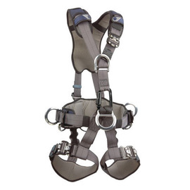 3M™ DBI-SALA® Large ExoFit™ Derrick Full Body Style Harness With Back, Front And Side D-Ring, Tongue Leg Strap Buckle, 18
