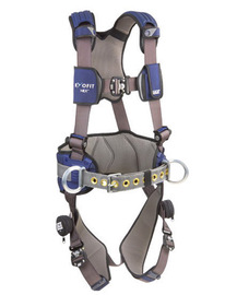 3M™ DBI-SALA® Small ExoFit NEX™ Construction/Full Body Style Harness With Tech-Lite™ Aluminum Back D-Ring, Duo-Lok™ Quick Connect Leg And Chest Strap Buckle, Torso Adjuster, Back And Leg Comfort Padding