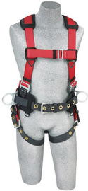 DBI/SALA® X-Large Protecta® PRO™ Construction/Full Body/Vest Style Harness With Back And Side D-Ring, Hip Pad And Belt, Shoulder Pad And Tongue Leg Strap Buckle